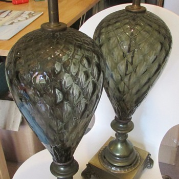 Art Deco? table lamps
