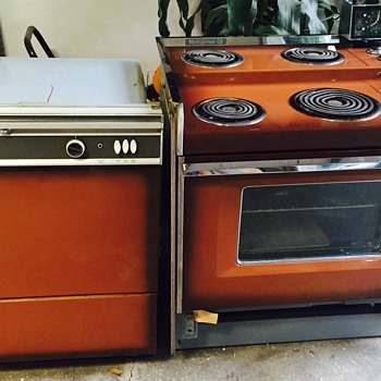 1960's Westinghouse Terracetop Electric Range & Dishwasher - Kitchen