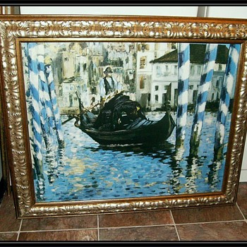 BLUE VENICE -- Oil Painting ( copy ) - Visual Art