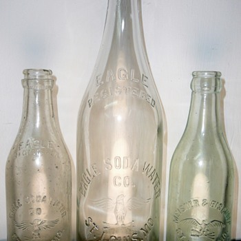 Eagle Soda Water Co. and Meisner & Bischoff Bottles