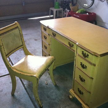 Antique Charles Sligh Desk and Chair