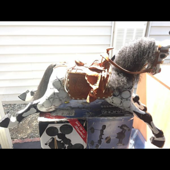 Carved wooden horse possible rocker or glider