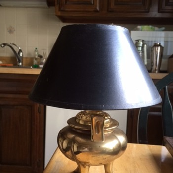 vintage brass lamp - Lamps