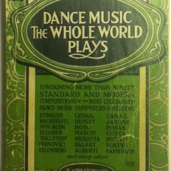 """Dance Music the Whole World Plays"" Sheet Music Book - Paper"