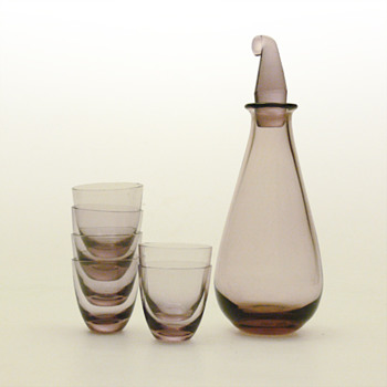 SV decanter and glasses, Nanny Still (Riihimäen, 1950)