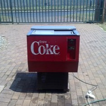 Coke chest fridge