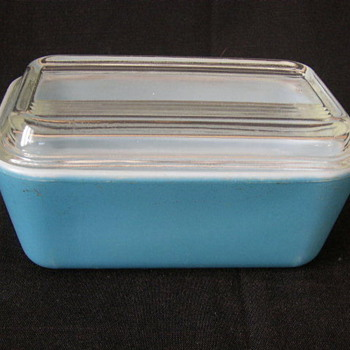 Blue #502 Refrigerator Dish With Lid
