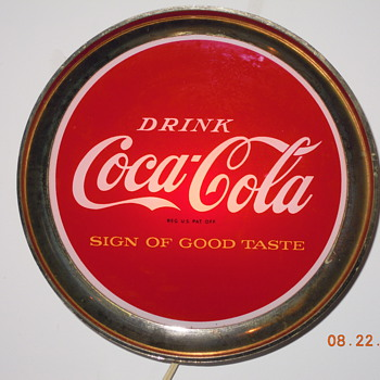 "1965 Coca-Cola Sign, 12"", Glass Front - Incomplete"