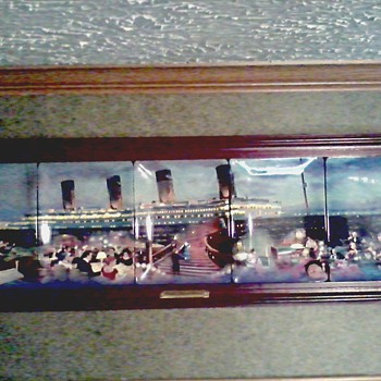 "Bradford Exchange China"" Titanic Ship of Dreams "" /5 Rectangular Plates Series/ Custom Frame"