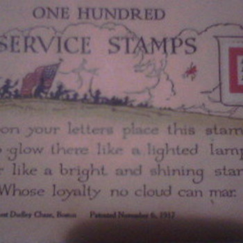 Service Stamps WW1? - Military and Wartime