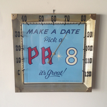 Old Reading Brewery PR 8 Thermometer - Breweriana