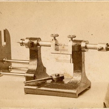 1890s CDV of Waltham Watch Factory Equipment (attributed)