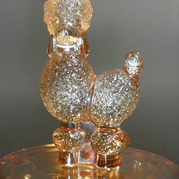 Jeannette Glass Poodle Powder Jar