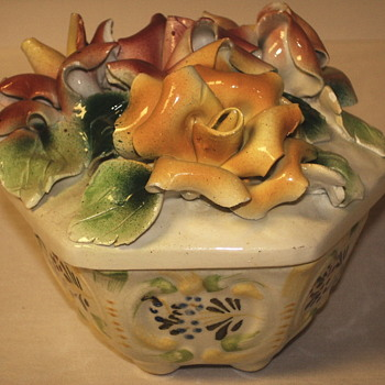 "Flowered Vase bowl""Italy 1950-60"" - Art Pottery"