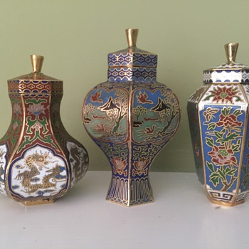 Cloisonné vases - Asian
