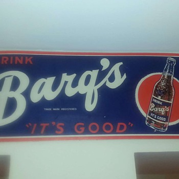 Barqs root beer sign