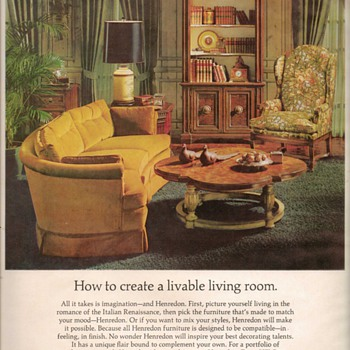1968 - Henredon Furniture Advertisement