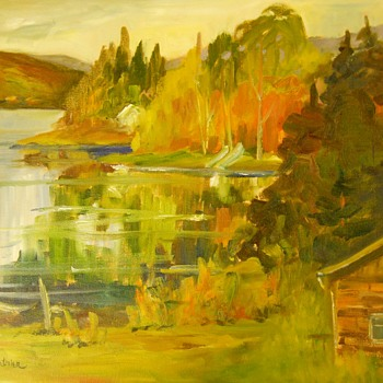 "Oil on Canvas""Jackie Lanthier""Canadian Artist,Circa 20 Century - Visual Art"
