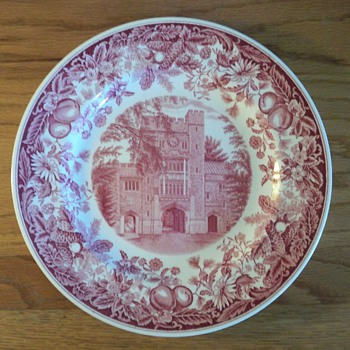 Vassar College Commemorative Wedgwood Plate