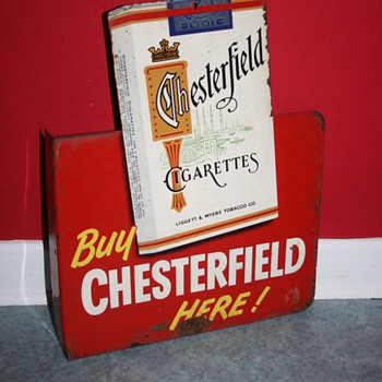 chesterfield tin sign - Advertising