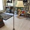 Vintage bridge lamp  Art Deco or Victorian floor lamp cast iron