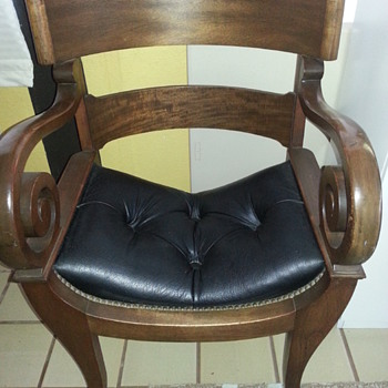 My Family's Antique captains chair