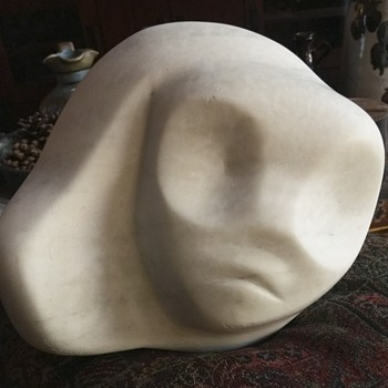 White Marble Head Sculpture - Thrifty Find! - Visual Art