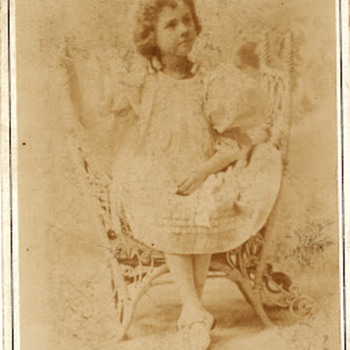 Cabinet Card by Frank Wendt Child Genius Gertie Cochran
