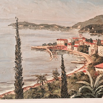 French Riviera (Mystery Signature) IMPASTO - New Pics!!! - Visual Art