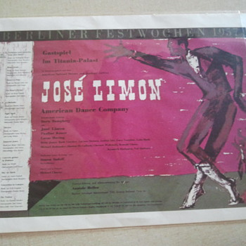 Jose Limon Berliner Festwochen 1957 Poster - Posters and Prints