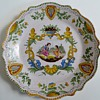 Beautiful Plate, Italian? New or Old? Very Nice Handpainted Design~Signed  EF