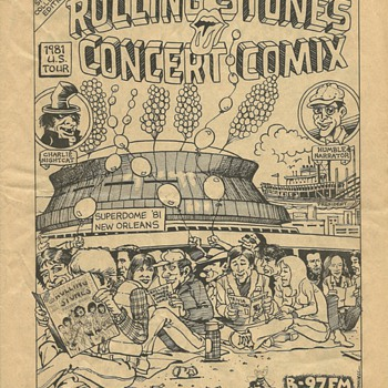 Rolling Stones Concert Comix  1981 - Comic Books