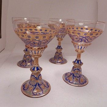 J&L Lobmeyr Glass Goblets - Art Glass