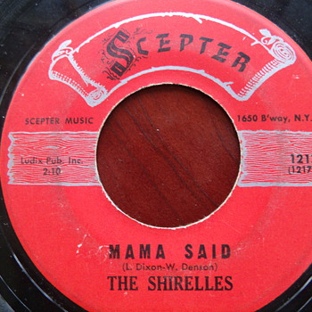 "1961 The Shirelles ""Mama Said"" and ""Blue Holiday"" 45rpm"