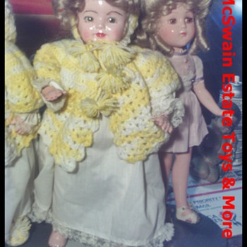 1920's Vanity Flossie Flirt  and Nancy Lee Dolls - Dolls