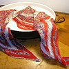 Vintage Pleated Silk Scarf