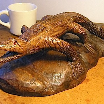 Gator Carving