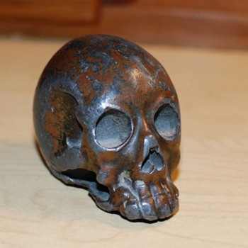 Japanese Study of a Human Skull - Meiji Period - Asian