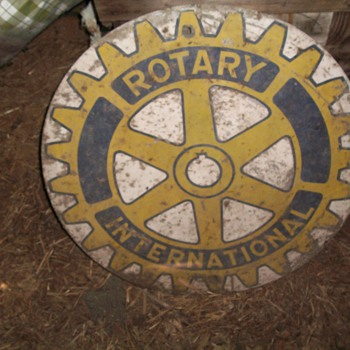 Rotary International metal sign  - Signs