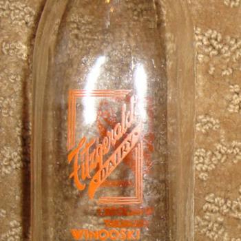 Fitzgerald's Dairy Winooski Vermont - Bottles