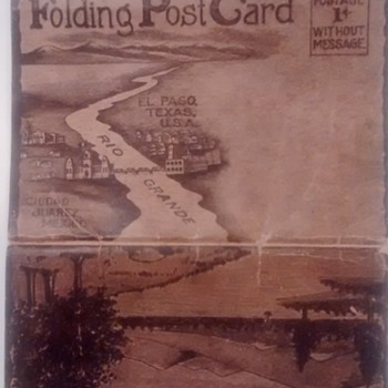 Vintage 11 folding post cards from mexico/texas - Postcards