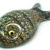 Galliano Ferro, Murano Controlled Bubble Art Glass Paperweight Fish