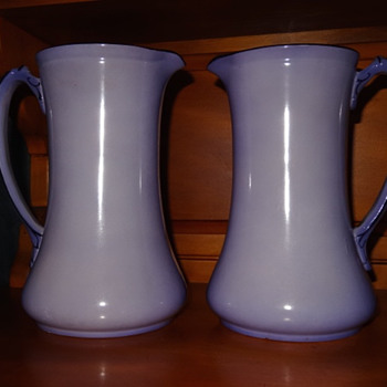 Lilac Burslem Pitchers - Simple Elegance.