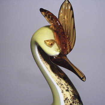 Bird of Paradise, Italian Glass,XX Century - Art Glass