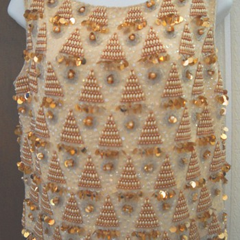 "Mad Men Sequin ""Bling"" Sleeveless Wiggle Shirt - Womens Clothing"