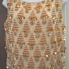 "Mad Men Sequin ""Bling"" Sleeveless Wiggle Shirt"