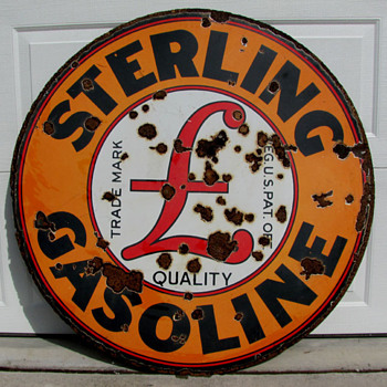 Sterling Gasoline Sign