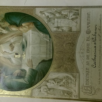 First communion certificate - Paper