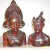 Vintage Mayan? Aztec? Asian? Wood Bust Carvings Circa 1925
