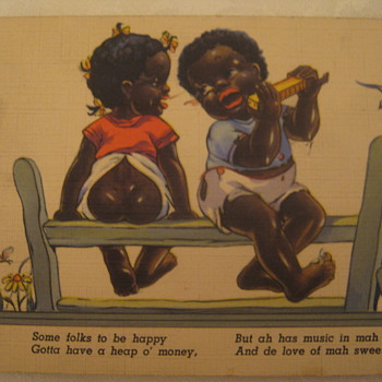 Vtg Post Card African American - Postcards